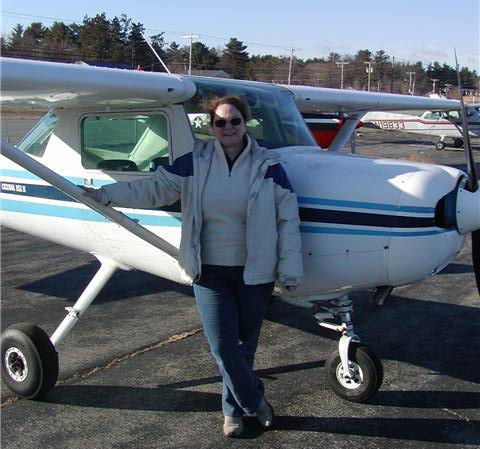 Linda Private Pilot by airplane